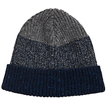 Buy JOHN LEWIS & Co. Made in Italy Ombre Beanie Hat, Navy/Grey Online at johnlewis.com