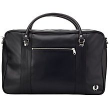 Buy Fred Perry Pique Textured Overnight Bag, Black Online at johnlewis.com