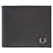 Buy Fred Perry Scotch Grain Billfold Wallet, Black Online at johnlewis.com