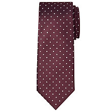 Buy Hackett London Spot Silk Tie, Burgundy/White Online at johnlewis.com