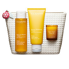 Buy Clarins Spa At Home Skincare Gift Set Online at johnlewis.com