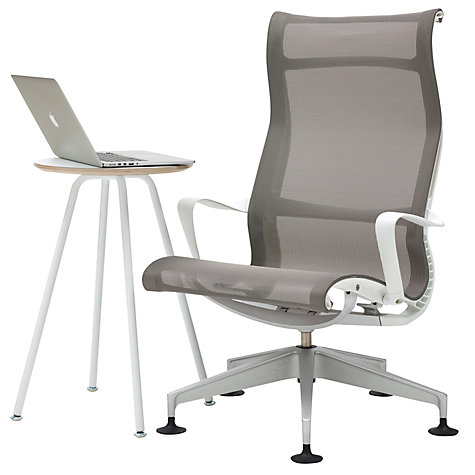 Buy Herman Miller Setu Lounger Chair And Swoop Work Table John Lewis
