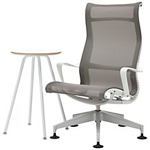 Buy Herman Miller Setu Lounger Chair and Swoop Work Table Online at johnlewis.com