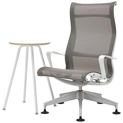 Buy Herman Miller Setu Lounger Chair And Swoop Work Table John Lewis