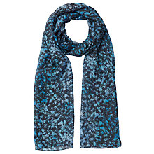 Buy Jigsaw Sophia Shadow Floral Scarf, Blue Online at johnlewis.com