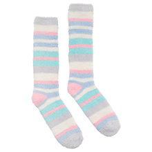 Buy Joules Fab Fluffy Stripe Knee High Socks, Multi Online at johnlewis.com