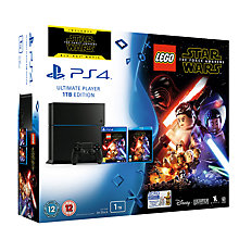 Buy Sony PlayStation 4 Console, 1TB, LEGO Star Wars: The Force Awakens Game and Blu-Ray with PS4 DualShock 4 Controller, Magma Red Online at johnlewis.com