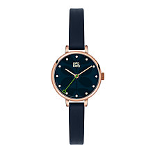 Buy Orla Kiely OK2036 Women's Ivy Leather Strap Watch, Navy Online at johnlewis.com
