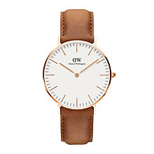 Buy Daniel Wellington Women's Classic Durham Leather Strap Watch Online at johnlewis.com