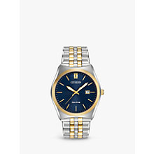 Buy Citizen BM7334-58L Men's Corso Date Two Tone Bracelet Strap Watch, Silver/Gold Online at johnlewis.com