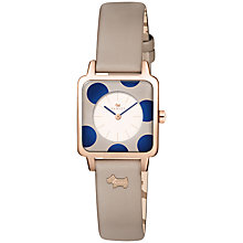 Buy Radley Women's Rochester Square Leather Strap Watch Online at johnlewis.com
