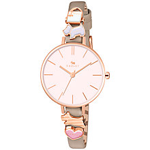 Buy Radley RY2408 Women's Time After Time Leather Strap Watch, Woodland/Blush Online at johnlewis.com