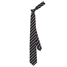 Buy HUGO by Hugo Boss Stripe Woven Silk Tie, Black Online at johnlewis.com