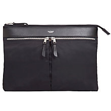 "Buy Knomo Book Sleeve for Laptops up to 13"", Black Online at johnlewis.com"