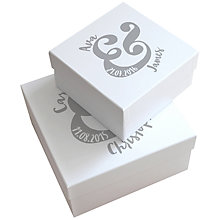 Buy Letterfest Personalised Wedding Keepsake Gift Box, Large Online at johnlewis.com