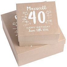 Buy Letterfest Personalised Birthday Keepsake Gift Box, Small Online at johnlewis.com
