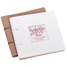 Buy Letterfest Personalised Christening Leather Photo Album Online at johnlewis.com