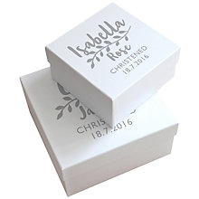 Buy Letterfest Personalised Christening Keepsake Gift Box, Small Online at johnlewis.com