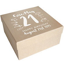 Buy Letterfest Personalised Birthday Keepsake Gift Box, Large Online at johnlewis.com