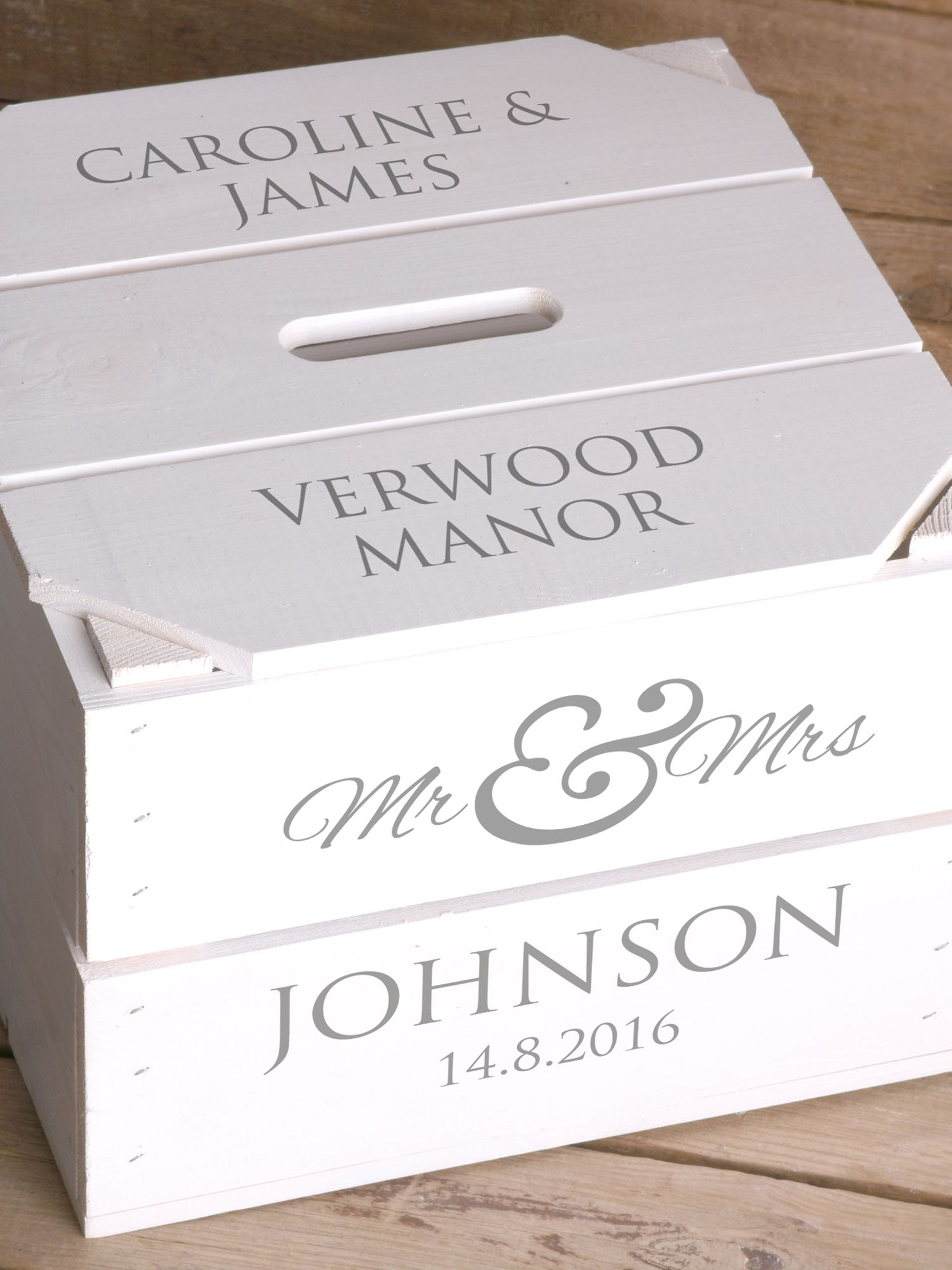 Personalised Wedding Gifts John Lewis : Buy Letterfest Personalised Wedding Keepsake Crate Online at johnlewis ...