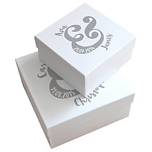 Buy Letterfest Personalised Wedding Keepsake Gift Box, Small Online at johnlewis.com