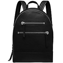 Buy Mulberry Zip Backpack, Black Online at johnlewis.com