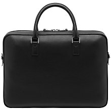 Buy Mulberry Theo Leather Briefcase, Black Online at johnlewis.com