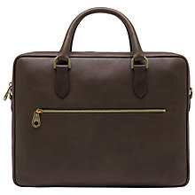Buy Mulberry Heathcliffe Slim Briefcase, Chocolate Online at johnlewis.com