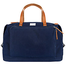 Buy Sandqvist Charles Canvas Holdall, Blue Online at johnlewis.com