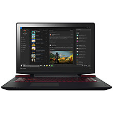 "Buy Lenovo Ideapad Y700 Gaming Laptop, Intel Core i7, 16GB RAM, 1TB HDD + 256GB SSD, 15.6"" Ultra HD (4K), Black Online at johnlewis.com"
