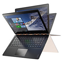 "Buy Lenovo YOGA 900 Convertible Laptop, Intel Core i7, 8GB RAM, 512GB SSD, 13.3"" QHD+ Touch Screen Online at johnlewis.com"