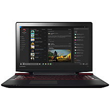"Buy Lenovo Ideapad Y700 Gaming Laptop, Intel Core i7, 8GB RAM, 1TB HDD + 128GB SSD, NVIDIA GTX 960, 15.6"" Full HD, Black Online at johnlewis.com"