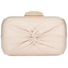 Buy Phase Eight Gina Satin Box Clutch Bag, Oyster Online at johnlewis.com