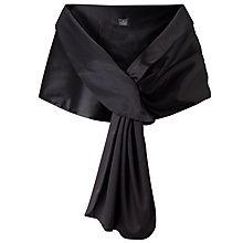 Buy Adriana Papell Pull Thru Wrap, Black Online at johnlewis.com
