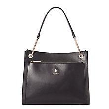 Buy Modalu Clara Leather Chain Shoulder Bag, Black Online at johnlewis.com