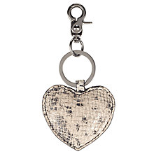 Buy Becksondergaard Raja Heart Keyring, Grey Online at johnlewis.com