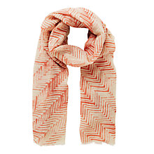 Buy Becksondergaard Jessamine  Zigzag Print Scarf, Light Berry Online at johnlewis.com