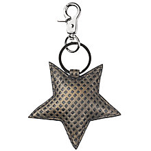 Buy Becksondergaard Raja Star Keyring, Metallic Olive Online at johnlewis.com