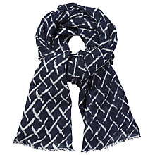 Buy Becksondergaard Kennedia Printed Scarf, Classic Navy Online at johnlewis.com