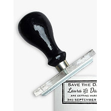 Buy StompStamps Decorative Save The Date Stamp Online at johnlewis.com