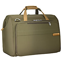 Buy Briggs & Riley Baseline Weekend Holdall, Olive Online at johnlewis.com