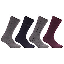 Buy BOSS Sock Gift Set, One Size, Pack of 4, Grey/Navy/Burgundy Online at johnlewis.com