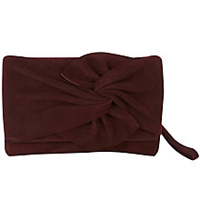 Buy Karen Millen Suede Bow Clutch Bag Online at johnlewis.com