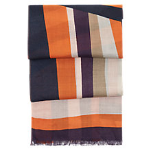 Buy Hobbs Katie Scarf, Sunset Orange Online at johnlewis.com