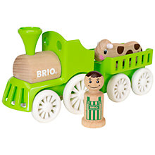 Buy Brio Farm Train Set Online at johnlewis.com