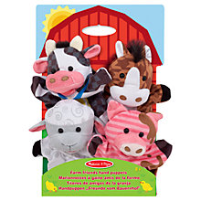 Buy Melissa & Doug Farm Friends Hand Puppets, Pack of 4 Online at johnlewis.com