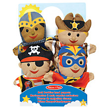 Buy Melissa & Doug Bold Buddies Hand Puppets, Pack of 4 Online at johnlewis.com