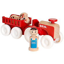 Buy Brio Farm Tractor Set Online at johnlewis.com