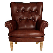 Buy John Lewis Hambleton Leather Armchair, Light Legs Online at johnlewis.com