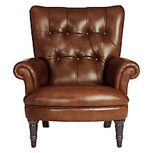 Buy John Lewis Hambleton Leather Armchair, Dark Legs Online at johnlewis.com